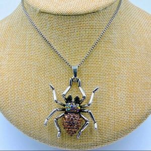 BETSEY JOHNSON~ SPIDER Necklace/Pendant